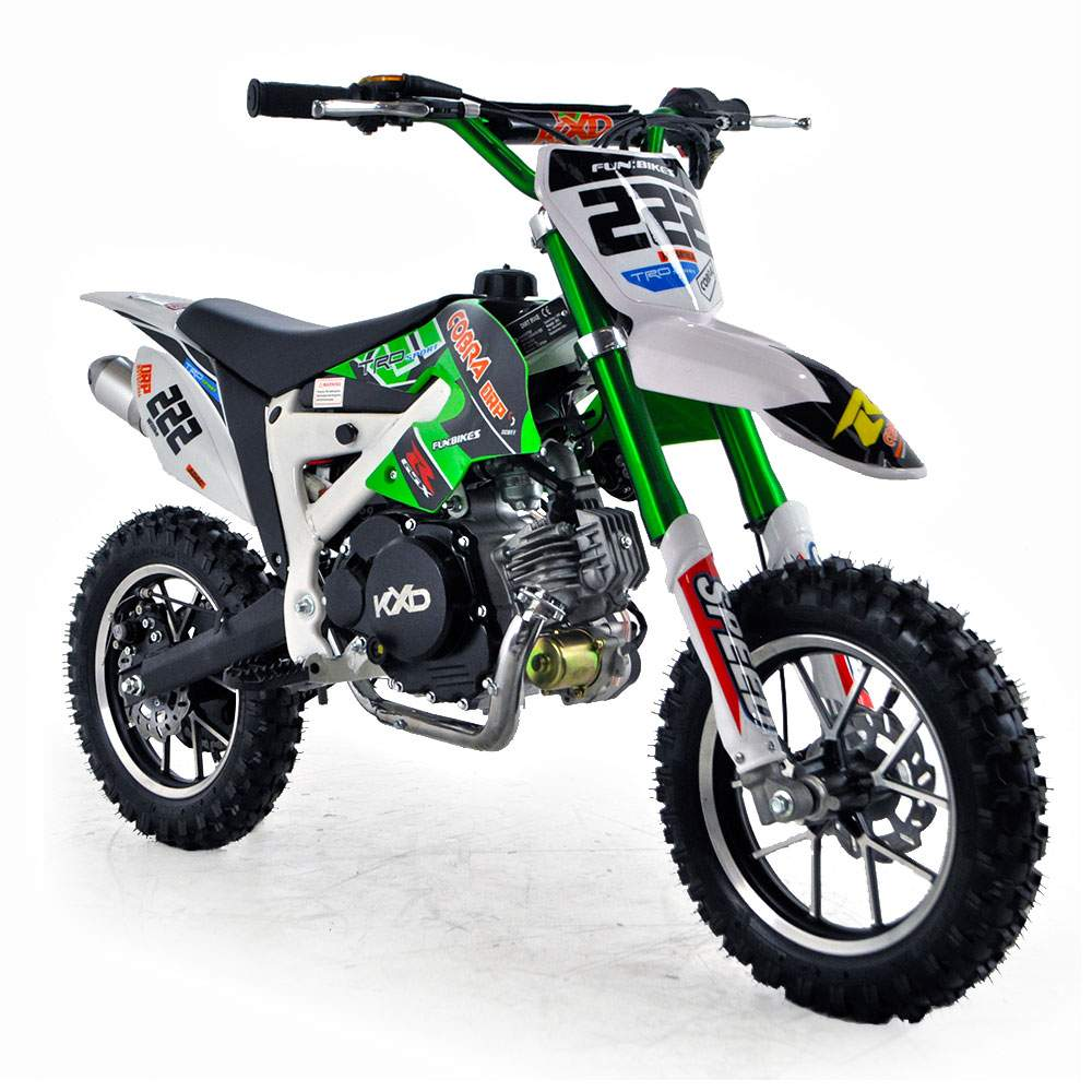 cobra 4s 50cc 62cm green kids mini dirt bike fics. Black Bedroom Furniture Sets. Home Design Ideas