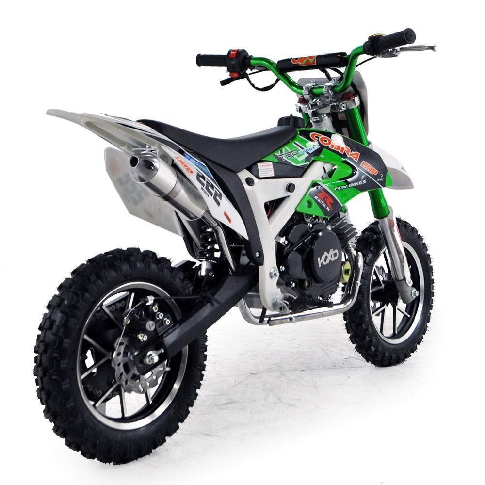 cobra 4s 50cc 62cm green kids mini dirt bike fics. Black Bedroom Furniture Sets. Home Design Ideas