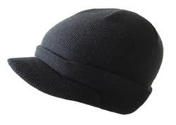 Wulfsport Cub Knitted Peak Hat Black