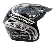 Wulfsport Cub Airflo Plus Trials Helmet Black