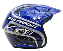 Wulfsport Cub Airflo Plus Trials Helmet Blue