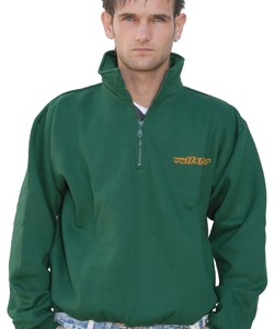 Wulfsport 1/4 Zip Sweater Green
