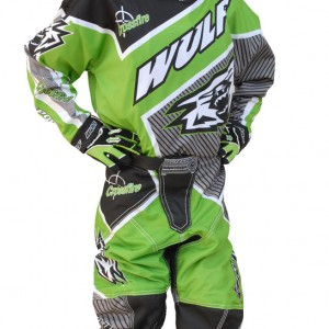 Wulfsport Crossfire Cub Race Shirts Green