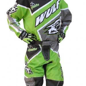 Wulfsport Crossfire Cub Race Shirts Green