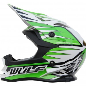 Wulfsport Cub Advance Helmet Green