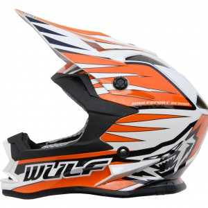 Wulfsport Cub Advance Helmet Orange
