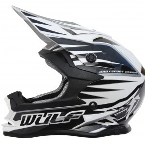 Wulfsport Cub Advance Helmet Black and White
