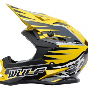 Wulfsport Cub Advanced Helmet Yellow