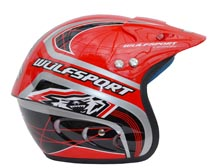 Wulfsport Cub Airflo Plus Trials Helmet Red