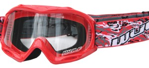 Wulfsport Cub Abstract Goggles Red