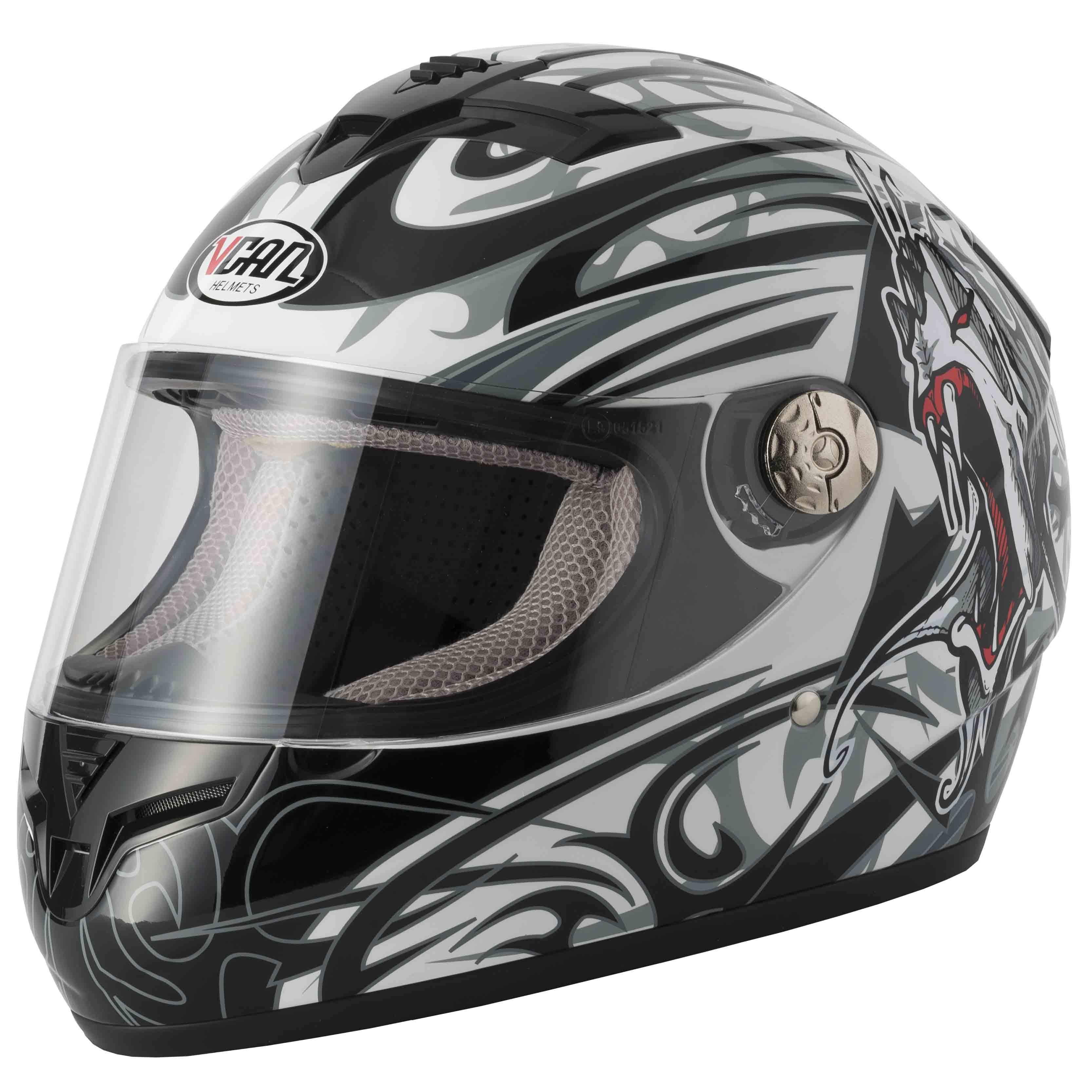 MOTORBIKE VCAN V127 UK BRITISH FLAG HELMET Motorcycle Full Face Union Jack Graphic ACU ECE Approved Sports Touring Helmet /& Grid Balaclava