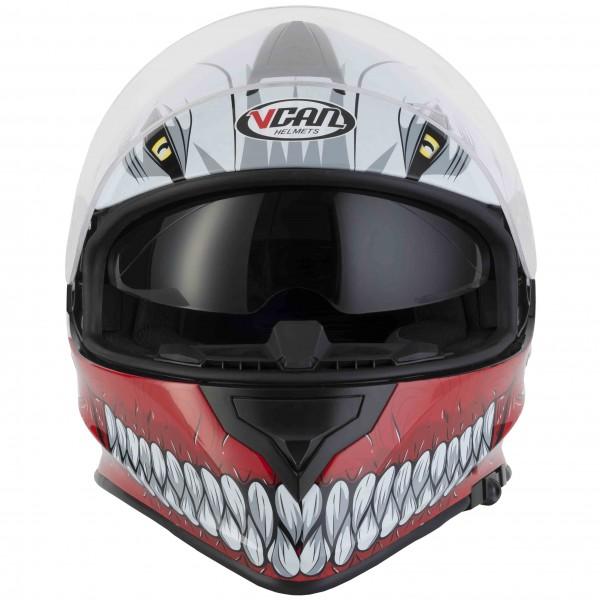 VCAN V127 HOLLOW YAMAHA BLUE Full Face Motorbike Helmet Interior Visor ACU Gold