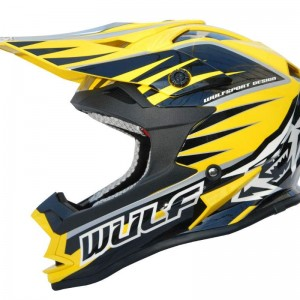 Wulfsport Advance Helmet Yellow and Black