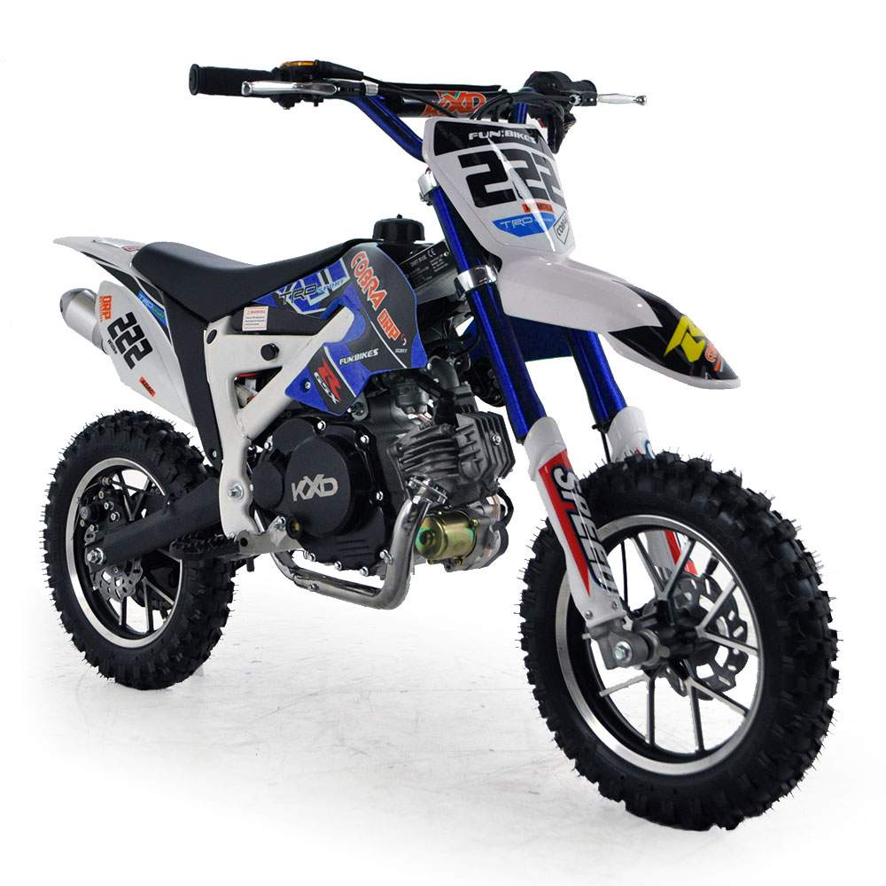 cobra 4s 50cc 62cm blue kids mini dirt bike fics motorcycles. Black Bedroom Furniture Sets. Home Design Ideas