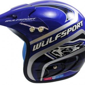 Wulfsport Air-Flo Plus Trials Helmet Blue