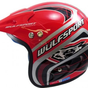 Wulfsport Air-Flo Plus Trials Helmet Red
